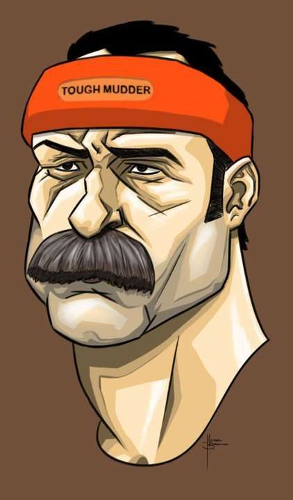 Mustache Man Tough Mudder