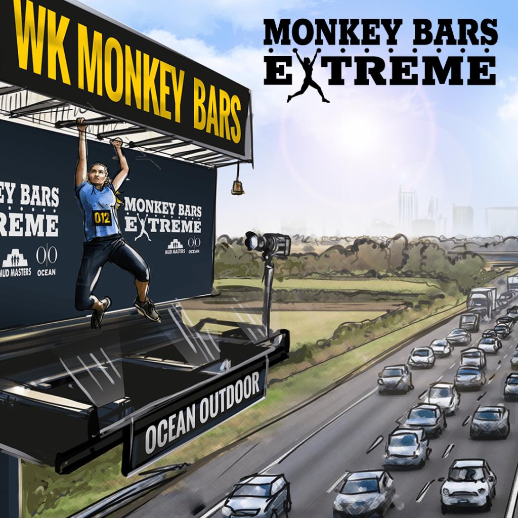 Monkey Bars Extreme met logo INSTAGRAM